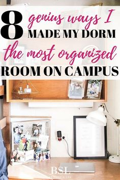 This is the best post I have seen on dorm room organization ideas... seriously every college student should pin this! So many ideas on college dorm room organization.