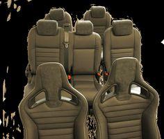 7 seater #Landrover #defender 110 custom leather seat upgrade using cs recaros contact us on 01162773701
