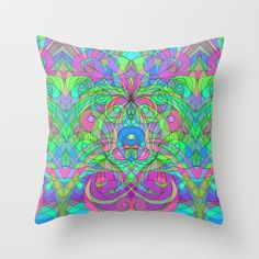 Ethnic Style G108 Throw Pillow by MedusArt - $20.00 http://society6.com/Medusa81/Ethnic-Style-G108_Pillow