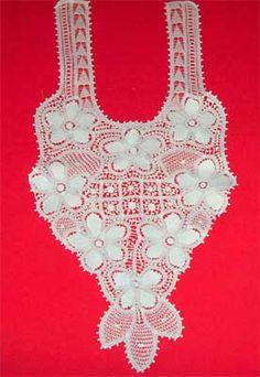 Pala em renda renascença para decote de vestido de noiva