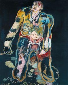 Georg Baselitz (German, b. 1938), Rebel, 1965. Oil on canvas, 162.7 x 130.2 cm.