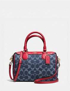 Coach Mini Bennett Satchel in Denim Jacquard