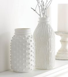 Milk Glass Jar and Jug Home Decor