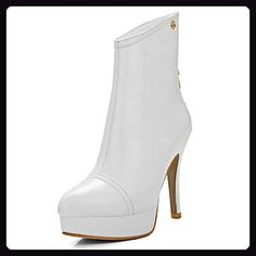 Women's Solid High-Heels Pointed Closed Toe PU Chains Boots