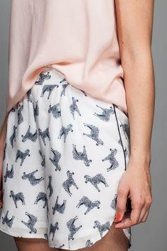 Shorts, Sommershorts mit Zebra-Print // summer shorts with zebra print via DaWanda.com