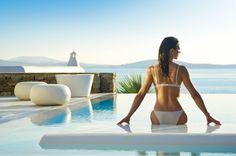 Mykonos Grand is a 5 star Mykonos luxury hotel resort & spa at Ayios Yiannis beach, Mykonos (Myconos), Greece. Experience the best luxury hotel in Mykonos. Marriott Hotels, Hotels And Resorts, Best Hotels, Santorini Island, Mykonos Greece, Greece Vacation, Vacation Spots, Greece Travel, Mykonos Luxury Hotels