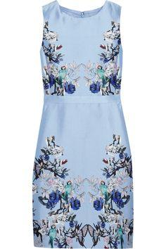 J.Crew Printed silk and cotton-blend dress NET-A-PORTER.COM