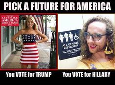 I fail to see what's wrong with the pic on the right. Seriously...this is why people hat trump supporters