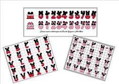 Schemi in pdf alfabeto e numeri Topolino e Minnie