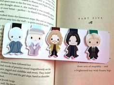 Wizard Mini Magnetic Bookmarks Set Two by ReadandWonder on Etsy