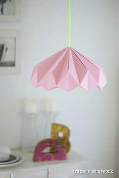 DIY paper origami lampshade lampenschirm plissee papier deko                                                                                                                                                                                 Mehr