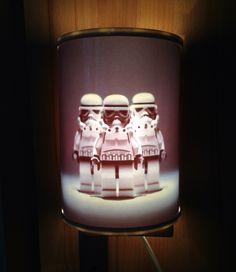 Upcycling von einer Kinderzimmerlampe.  Wilde Kerle raus, Star Wars rein
