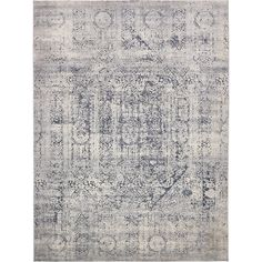 Unique Loom Chateau Quincy Gray 0 x 0 Area Rug 3136053 - The Home Depot Navy Rug, Navy Blue Area Rug, Grey Rugs, Beige Area Rugs, Blue Rugs, Home Depot, Farmhouse Area Rugs, Modern Farmhouse, Farmhouse Decor