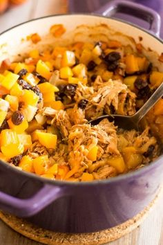 Apple Squash Pulled Pork Casserole   by Sonia! The Healthy Foodie
