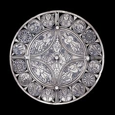 The Fuller Brooch,   Anglo-Saxon, late 9th century AD,     The earliest known personification of the Five Senses