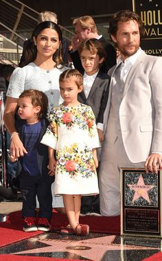 Matthew McConaughey and his adorable family pose as the actor gets his very own star on the Hollywood Walk of Fame.