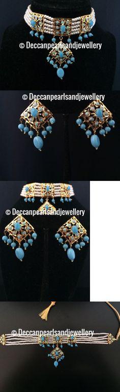 Sets 98513: Hyderbadi Jadau Choker In Turquoise , Indian Pakistani Jewellery -> BUY IT NOW ONLY: $85 on eBay!