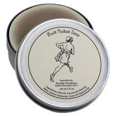 Buck Naked Soap - 100% Natural & Handmade, in Reusable Travel Gift Tin by Seattle Sundries, http://www.amazon.com/dp/B004MJU5GY/ref=cm_sw_r_pi_dp_RwOIrb08NTEWJ
