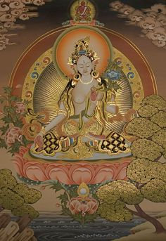 The Buddhist deity White Tara
