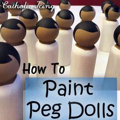 dolls dolls dolls Peg dolls are a timeless and classic toy. They are beautiful and unique and children appreciate that. They know that peg dolls are special because they are one of a Wood Peg Dolls, Clothespin Dolls, Nativity Peg Doll, Crafts To Make, Fun Crafts, Crafts For Kids, Wooden Pegs, Wooden Diy, Doll Crafts