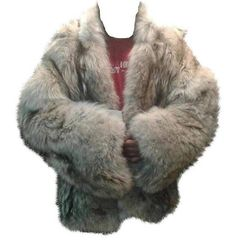 Handmade Unisex Silver Fur Coat  Gray Multitone Fur Coat