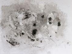 MANCHA N°1, tinta china, esmalte sintetico s-papel, 2012. Adriana Lugones