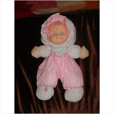 Fisher Price Vintage Pink Puffalump Kids Merri Baby Doll 1990's (OMG this was just like my doll I had for years that I named old dolly)