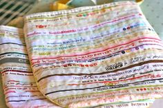 selvedge bag--would make super cute fabric baskets