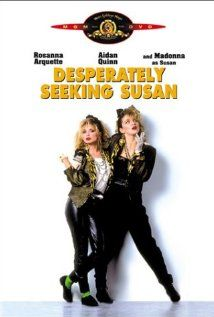 329 Days-Romantic Films Till Valentine's:...DESPERATELY SEEKING SUSAN... 80's Hip Rom-Com of Errors set in New York New Wave Dance Club Scene,  co-stars Madonna. 'LOVE STORY Ad AMNESIA'  Rare for Hollywood, Susan Seidelman directs with woman's  perspective. Stifled Jersey housewife seeks fulfillment vicariously dreaming thru personals. I feel a Duck-Tail growing. When reborn can I be Han Solo w/Aidan Quinn's blue eyes. Love isn't just providing dental care…