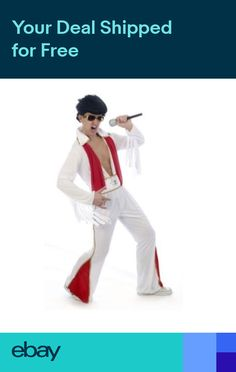 Mens Elvis Rock Star Rock N Roll 60s 70s Music Fancy Dress Stag Night  Costume 688669f79d91