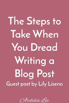 Writing a blog post isn't always a walk in the park. Let's be honest - sometimes it downright sucks. If you're currently struggling with feelings of dread when it comes to writing blog posts, this post is for you. Click through to learn what you should do when you find yourself staring at that blinking cursor again.