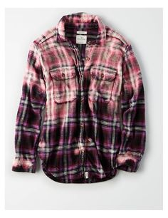 Shop Shirts and Blouses for Women. From button ups to denim shirts, flannels and plaid shirts, refresh your style with our collection of Women's Shirts and Blouses. Gebleichte Shirts, Bleach Shirts, Bleach Clothes, Sewing Shirts, Flannel Shirts, Mom Outfits, Cute Outfits, Clothes For Sale, Clothes For Women