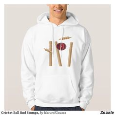 #cricket  Ball And Stumps, #Hoodie