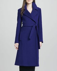 Dear Santa: All I want for Christmas is this (and some knee boots)! Michaele Belted Wool-Blend Long Coat  by Diane von Furstenberg at Neiman Marcus.