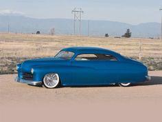 #Blue 1950 Mercury Custom Coupe