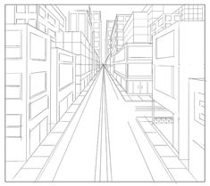 , 1 point perspective by vvincentt on DeviantArt , 1 point perspective by vvincentt. 1 Point Perspective Drawing, Perspective Art, Drawing Techniques, Drawing Tips, Architecture Concept Drawings, Art Lessons Elementary, Elements Of Art, Art Plastique, Teaching Art