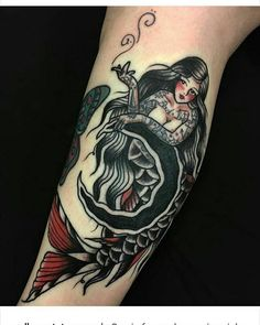 Super Tattoo Sleeve Girl Old School Tat Ideas - tattoos - Tatuajes Ems Tattoos, Pin Up Tattoos, Trendy Tattoos, Body Art Tattoos, Girl Tattoos, Tattoo Art, Traditional Mermaid Tattoos, Neo Traditional Tattoo, Girls With Sleeve Tattoos
