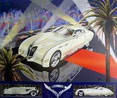 New Cord, Dusenberg, and Auburn designs by the League of Retired Automotive Designers. Car Design Sketch, Car Sketch, Automotive Group, Automotive Design, Mustang Parts, Car Museum, Grand National, Bike Art, Custom Cars