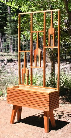 Raised Planter Bed Option, Mid Century Modern Style Straight, Tapered And…