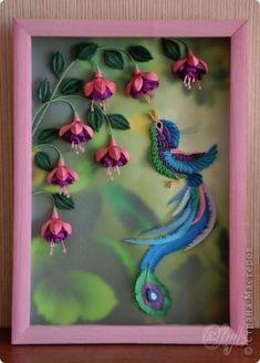 quilled fushia by Macarena Kreps