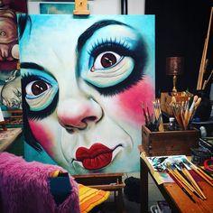 #workinprogress #italianpainter #Tuscany #contemporaryart #dolls #Painting Monica Spicciani #Painter #Painting in #Tuscany #Italy #art #fineart #artist #studio #contemporaryart #portrait #italianpainter