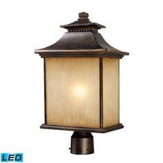 42184/1-LED | San Gabriel 1 Light Outdoor LED Post Lamp In Hazelnut Bronze - 42184/1-LED