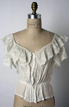 Linen Corset Cover - American   c.1900-1903   -   The Metropolitan Museum Of Art