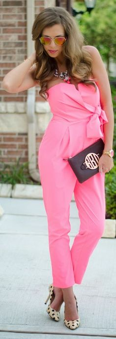 Necessaryclothing Pink Strapless Wrap And Bowknot Front Jumpsuit  OMG,I LOVE THIS JUMPSUIT, IT'S GORGEOUS!!!