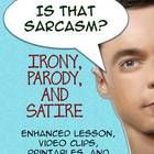Is That Sarcasm? Enhanced Lesson Plan for Irony, Satire, and Parody, Printables, SlidesThis is a great lesson for English Language ArtsIntroduc...