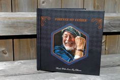 The Forever My Father book is a personalized memory book created to celebrate your special father. It is an amazing keepsake gift your father will cherished forever. A modern yet timeless design, this book is strong and earthy, filled with beautiful fonts and rich colors.
