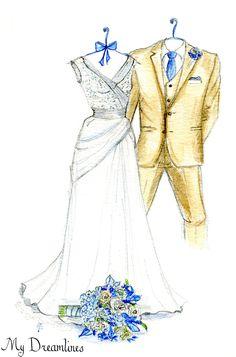 Personal Wedding Dress Sketch | Anniversary Gift | Wedding Gift | Wedding Day Gift From Groom | Bridal Shower Gift | Wedding Guestbook www.mydreamlines.... #weddinggift #anniversarygift #weddingdresssketch #bridalshowergift #groom #groomsmen #bridegift #paperanniversarygift #oneyearanniversarygift #romanticanniversarygift