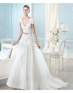 Glittra & Skin Plus storlekar Tyll Designer Bröllopsklänningar