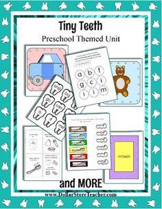 Dental Health Week - Tiny Teeth Preschool theme unit - Pre