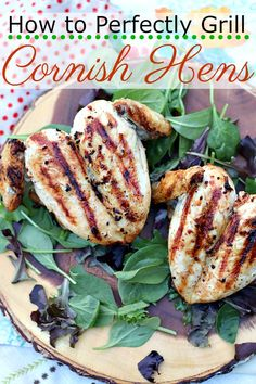 Pass on the turkey or ham this holiday season and serve up these perfectly grilled cornish hens. #recipe #recipes #cornishhens